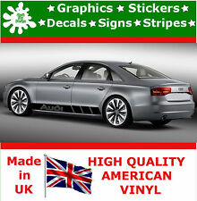 Audi Stripes Car Sticker Set Kit Large Vinyl Graphics Decal Racing Auto Decal 8