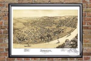 Vintage-Duquesne-PA-Map-1897-Historic-Pennsylvania-Art-Victorian-Industrial