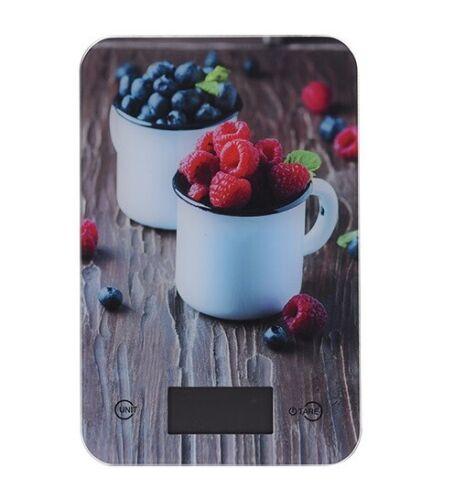 immagine di vetro con motivi funzione tara Bilancia da cucina digitale fino a 5 KG con Display