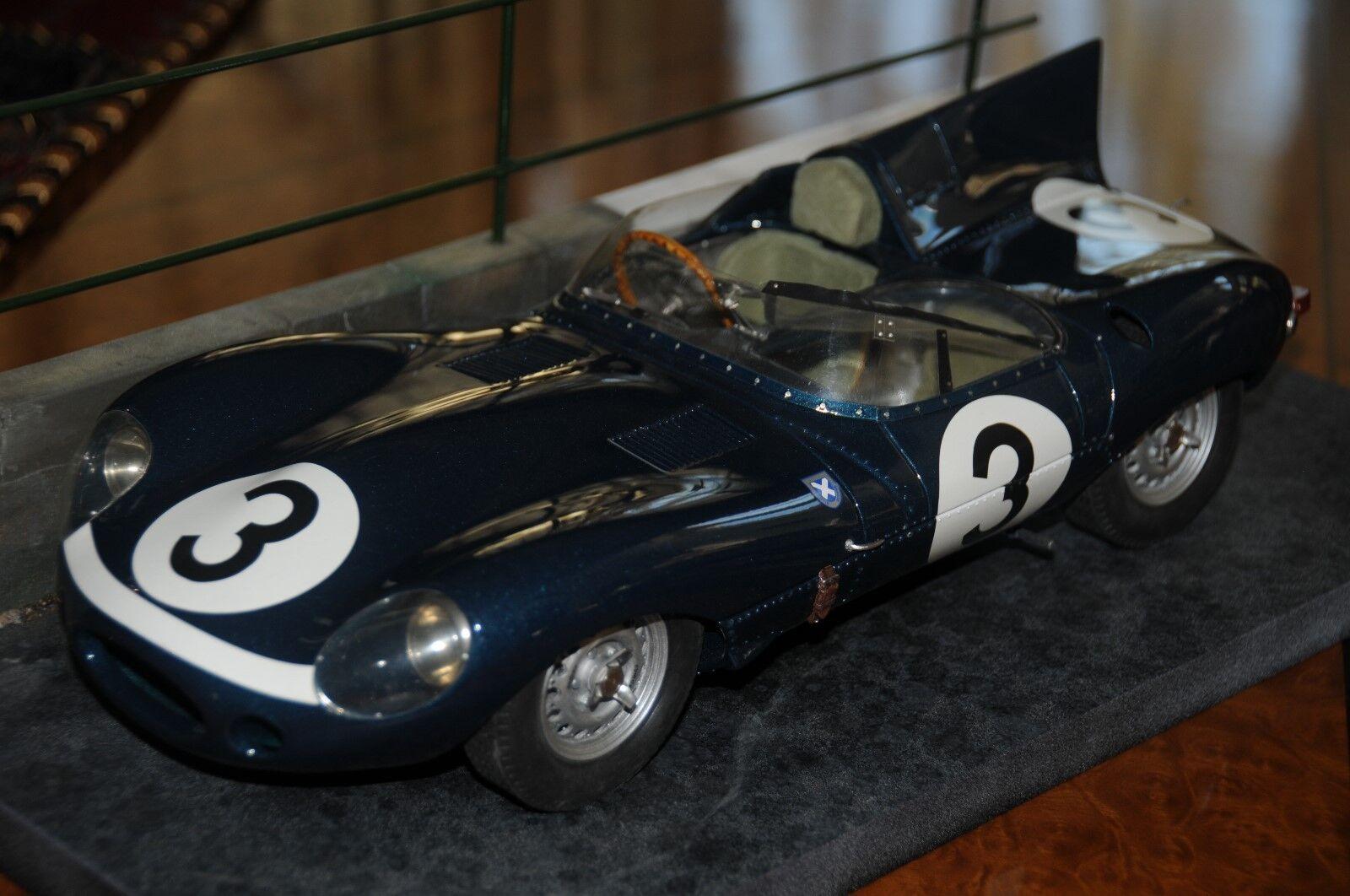 Patrice de Conto 1 12 1957 Ecurie Ecosse Jaguar Type-D Long Nez 1st le Mans