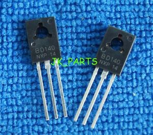 100PCS BD140 TRANSISTOR PNP 1.5A 80V TO126 NEW s8