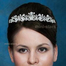 Hochzeit Handgefertigt Funkelnd Diadem Benutzen Swarovski Kristall T1452