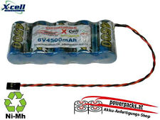Leistungs Empfängerakku X-Cel SCR 6V4500 mAh, Stecker frei wählbar...