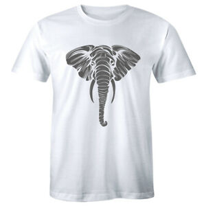 Big Face Elephant T-Shirt by The Mountain Giant Head Zoo Animal Lover Mens Tee