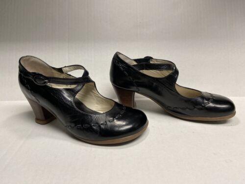 John Fluevog Operetta Black Leather Mary Jane High