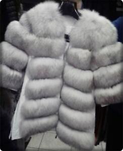 100 di cappotto vera pelliccia di cappotto moderna lusso pelliccia volpe pelliccia qa6Sr7q