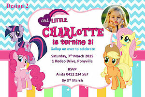 Details About MY LITTLE PONY PERSONALISED INVITATIONS BIRTHDAY INVITES CARD PARTY Many Designs