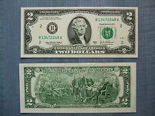 2 Dollar Note, 2 Dollar Schein, 2$, Geld,USA,Prägejahr 2009/2013,druckfrisch,NEU