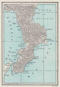 Cartina Geografica Calabria.C3385 Regno D Italia La Calabria Mappa D Epoca 1934 Vintage Map Ebay