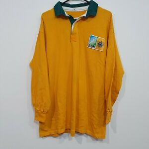 Vintage Australia Rugby Union Wallabies World Cup Longsleeve Shirt Cotton Trader