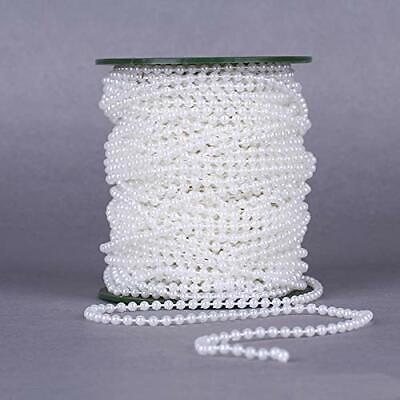 Zuchtperle Imitat Weiß 4mm Hochzeit Deko Band Perlenband Perlenschnur 1 M C332