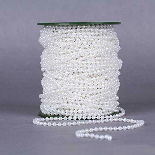 Zuchtperle Imitat Weiß 4mm Hochzeit Deko Band Perlenband Perlenschnur BEST C332