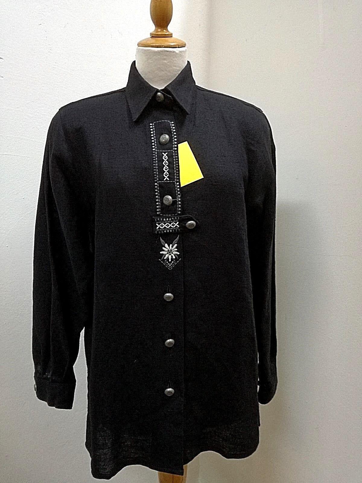 Trachten-azulsa-manga larga-Señora, talla 38-40, orbgis Trachten, tira de  botones con Rigel  Garantía 100% de ajuste