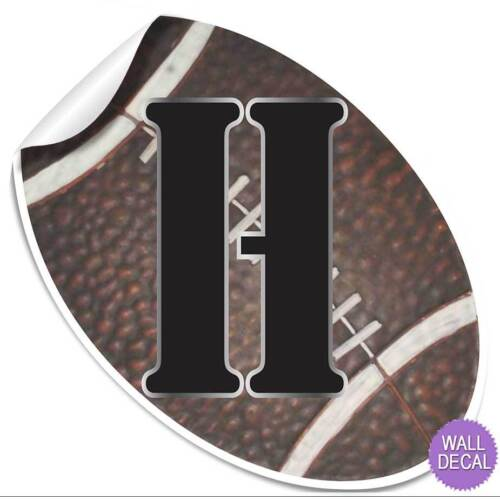 Wall Letters Alphabet Name Stickers Initial Decals Boys Sports Decor Football
