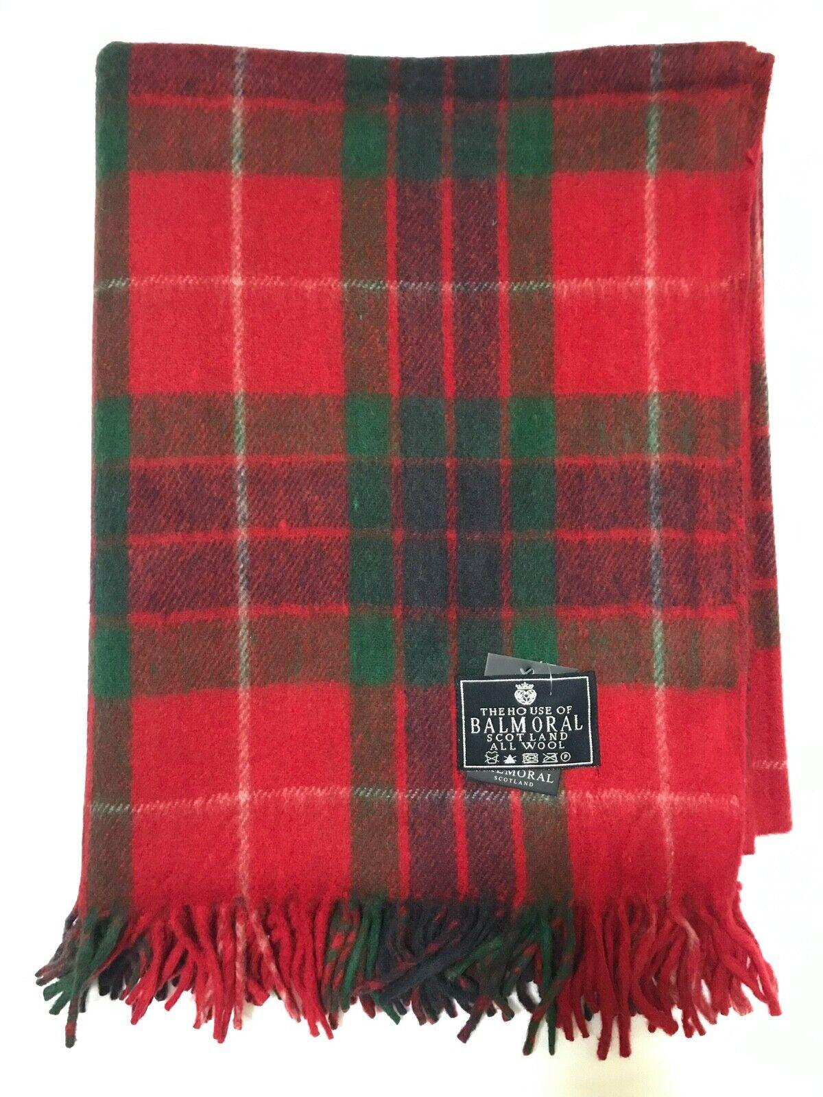 House Of Balmoral Grün Rot Fraser Teppich Wolldecke Schottland Schottenkaro Wurf
