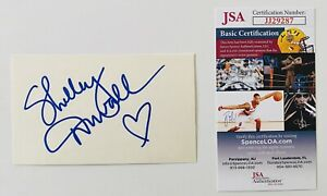 Shelley Duvall Signed Autographed 3x5 Card JSA Certified The Shining Popeye