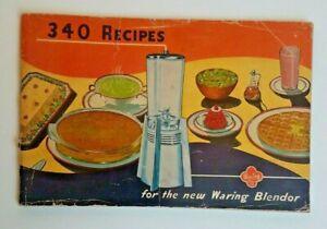 Vintage Waring Blendor Recipes Booklet 1947