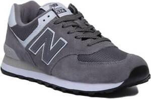 Details about New Balance 574 Classic Womens Suede Trainer In Castlerock  Grey Size UK 3 - 8
