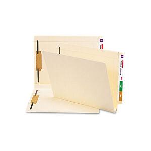 Smead Heavy W-Fold Expansion Folders Two Fasteners End Tab Letter Manila 50//box