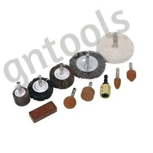 11PC-Drill-Attachment-Polishing-Buffing-Sanding-Wheel-Cleaning-Rust-Remover-Set