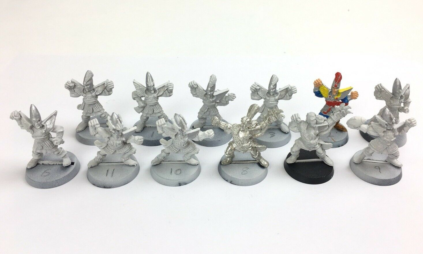 Citadel Bloodbowl High Elf Team Lion Warriors Gladrieth Gladiators 12 Metal