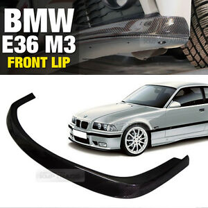 AC-Style-Carbon-Front-Bumper-Lip-Skirt-Body-Spoiler-for-BMW-1992-1999-E36-M3