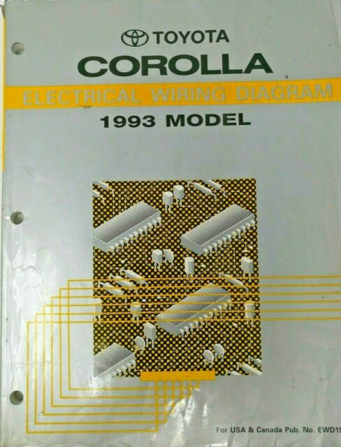 Diagram  1994 Toyota Corolla Electrical Wiring Diagram