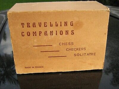 Vintage Set Of Chess Checkers And Solitaire Travel