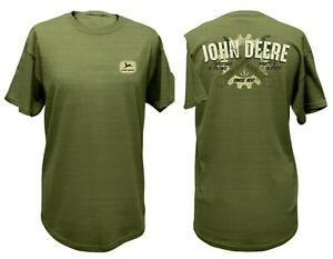 NEW John Deere Men's Green Tool & Gear Graphic T-Shirt , Sizes  M L XL