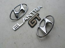 02-04 Hyundai Elantra GT Hood Emblem Tailgate Logo Decorative Ornament Decal Set