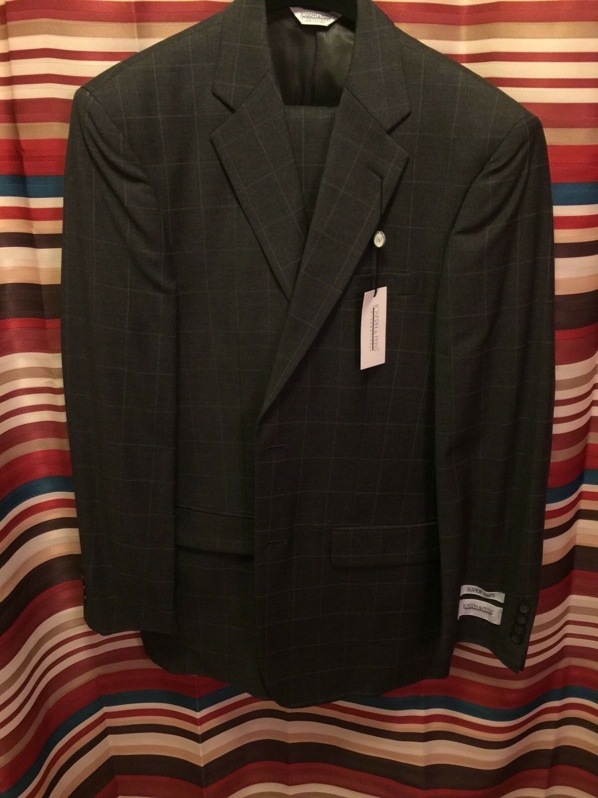 Joseph & Feiss 38L Uomo Charcoal Suit 38L Feiss and 32W Brand Nuovo 40e176