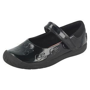 Puppet escuela de Girls patentes de Play Clarks Zapatillas negras la t586qq0wn