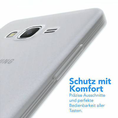 Schutz Hülle für Samsung Galaxy Grand Prime Cover Handy Case Matt Transparent