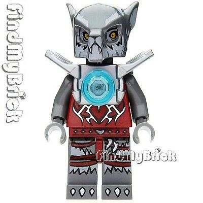 Wakz Minifigure with Armor 70004 NEW CM120 Lego Legends of Chima Wolf Tribe