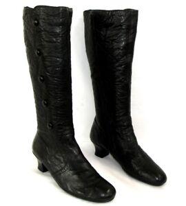 40 Etat Noir Talons Zip Excellent Cuir Confortables Sur 5 Cm Petits Bottes Rieker Détails WYeI9EHD2