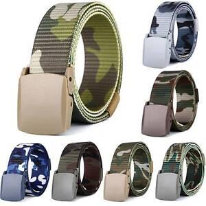 grande variété de styles se connecter luxuriant dans la conception Détails sur Extérieur Métal Boucle Militaire Ceinture Armée Tactique Nylon  Camo Bande Unisx