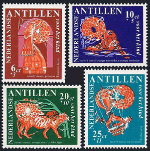 Netherlands Antilles B81-B84, MNH. Nanzi Stories: Princess Longnose, 1967