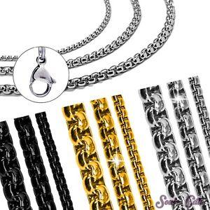 Jasseronkette-Cadena-De-Guisantes-Belcher-Eslabones-Acero-Inoxidable-Collar