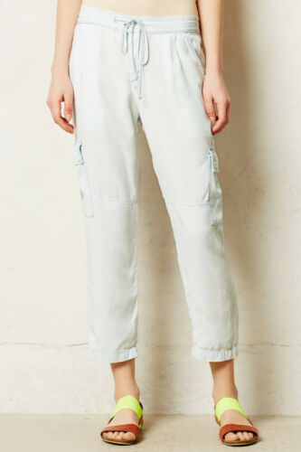 4 Sky Color NW ANTHROPOLOGIE Tag Cloth /& Stone Light Cargo Roll Up Pants Size 2