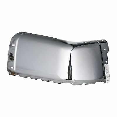 Bumper End compatible with Chevrolet Silverado Sierra 07-14 Rear Chrome W//Sensor Holes Right Side Steel