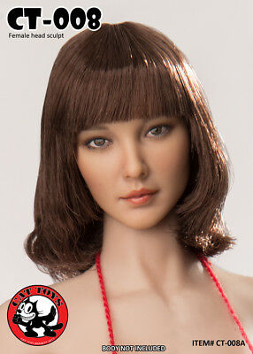 Cat Toys 1//6 CT-008C Female Asian Head Sculpt Only Sixth Scale Figure USA SELLER