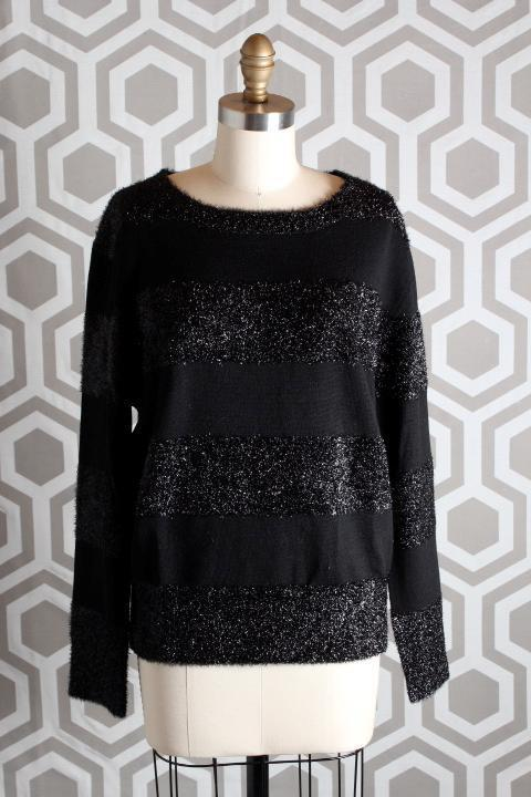 NWT Boy By Band of Outsiders Luce Sweater 4 schwarz Sparkle