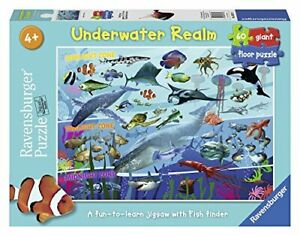 Ravensburger-Jigsaw-Puzzle-UNDERWATER-REALM-Sea-Life-Fish-Sharks-60-piece