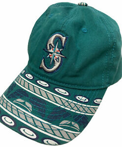 Seattle-Mariners-Native-American-Night-SGA-Giveaway-Strapback-Cap-Teal-EQC-New