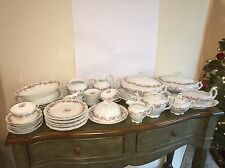 OMG! ANTIQUE KPM CHINA SET PLUS TONS OF SERVING PIECES SHABBY CHIC FLORAL BEAUTY