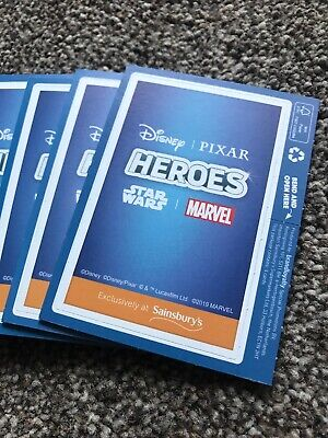 Disney Pixar Heroes Marvel Trading Cards by Sainsburys 50 75 or 100 packs!!!