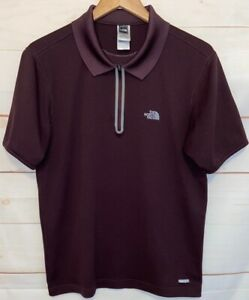 Men-039-s-THE-NORTH-FACE-VaporWick-Collared-Polo-Short-Sleeve-T-Shirt-Brown-Medium-M
