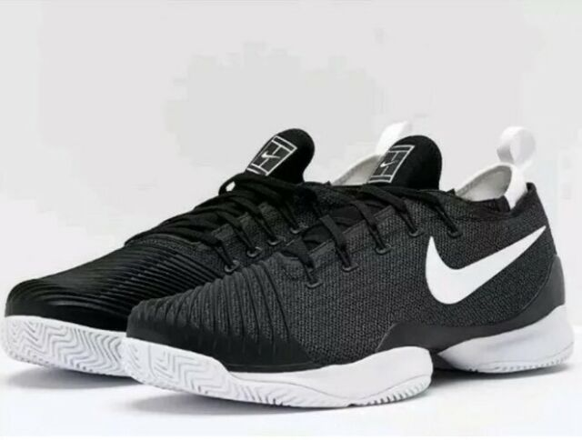 NWT Nike Mens Zoom Ultra React HC Tennis Shoes Black White 859719 010 SZ 15