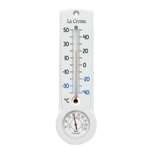 "204-109C La Crosse 8.75/"" Indoor//Outdoor Thermometer /& Hygrometer IN CELSIUS ONLY"