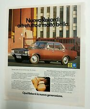 Pubblicità epoca 1972 AUTO OPEL REKORD DIESEL CAR advertising werbung publicité